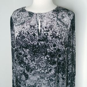 J.Jill long silk velvet burnout dress large